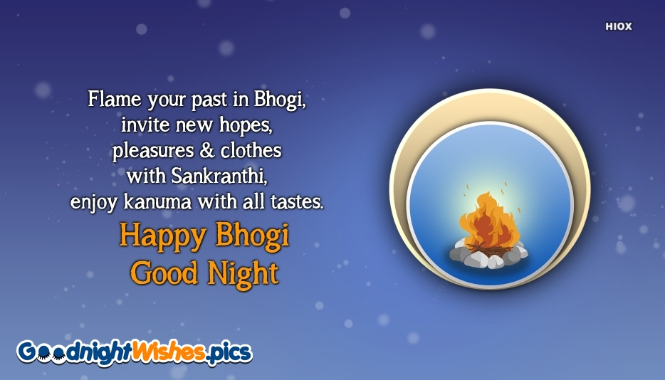 Happy Bhogi and Good Night Wishes