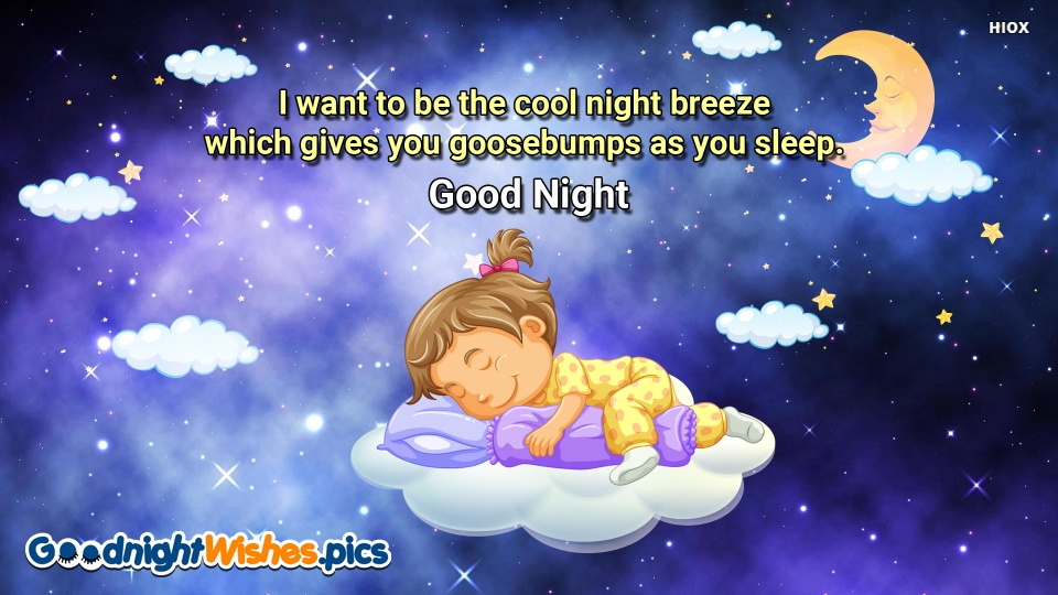 Good Night Wishes for Night Breeze