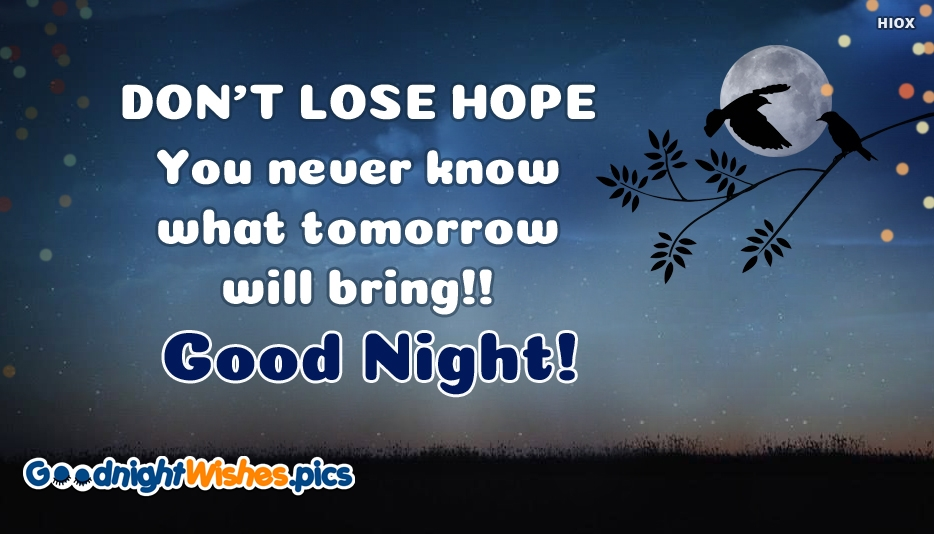 positive good night sms