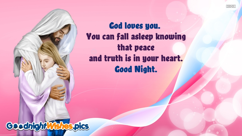 Good Night Wishes for God Loves You