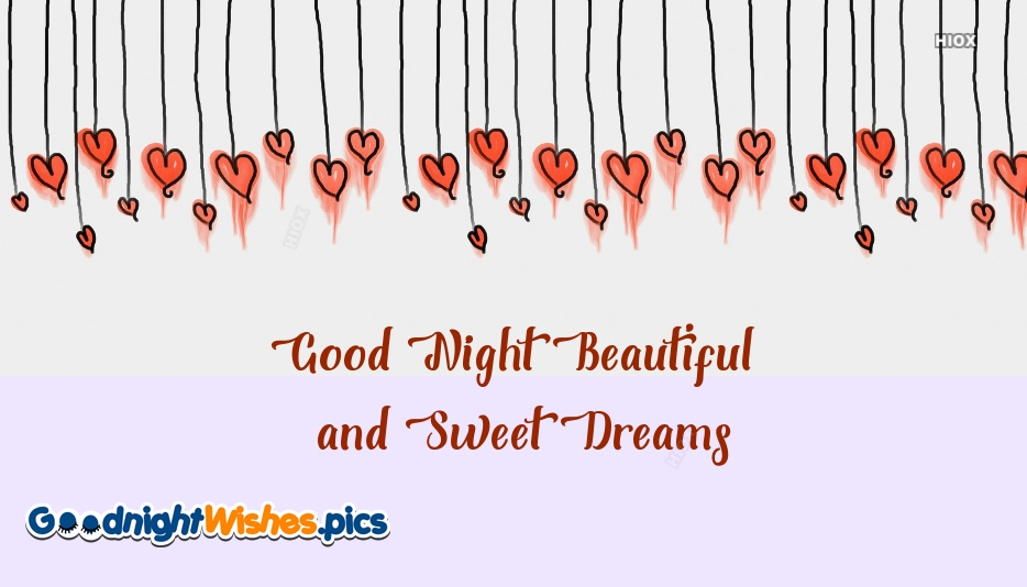 Good Night Beautiful And Sweet Dreams