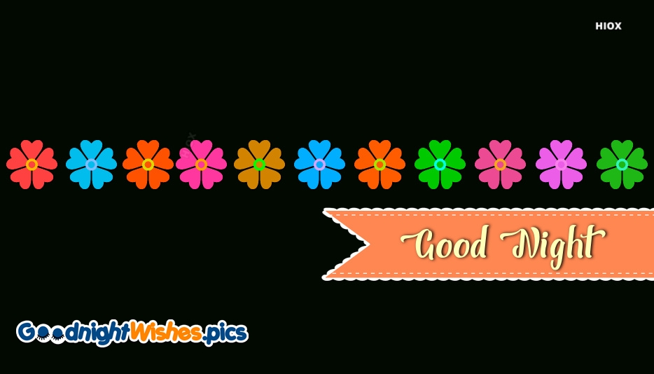 Good Night Beautiful Flowers Image