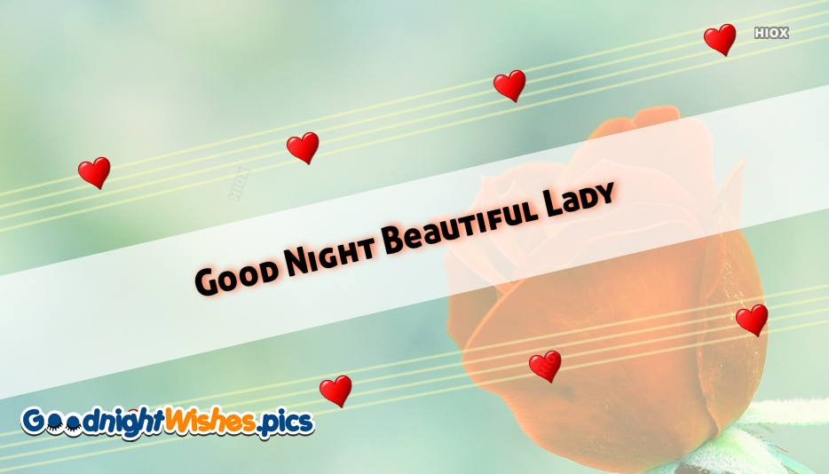 Good Night Beautiful Lady Images