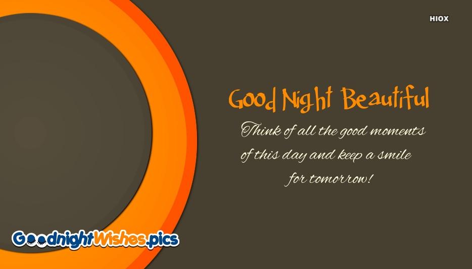 Beautiful Good Night Quotes