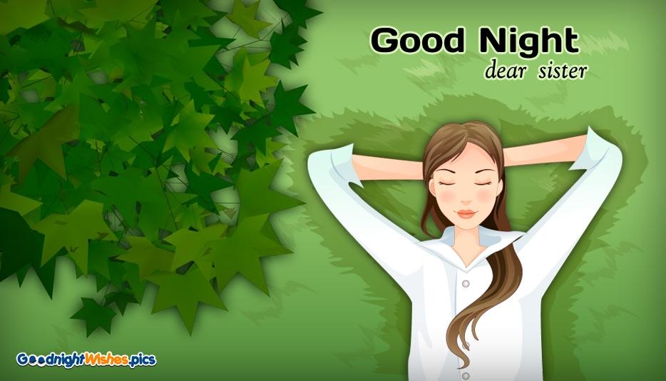 Good Night Dear Sister @ Goodnightwishes.pics