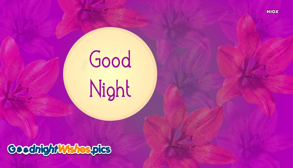 Good Night Flower Gif