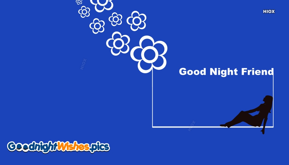 Good Night Friend Image