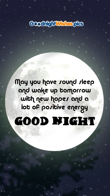 Good Night Image With Positive Quote