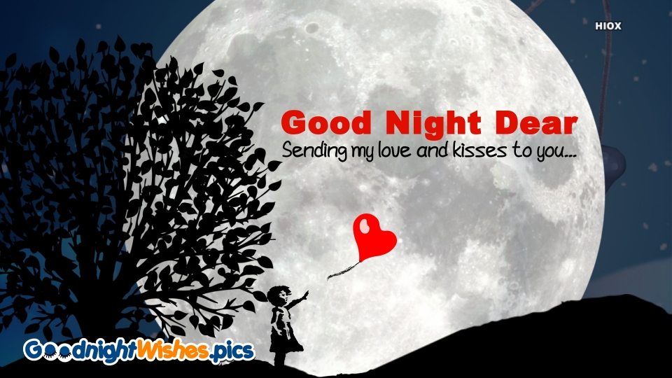 Good Night Love Sms with Kisses