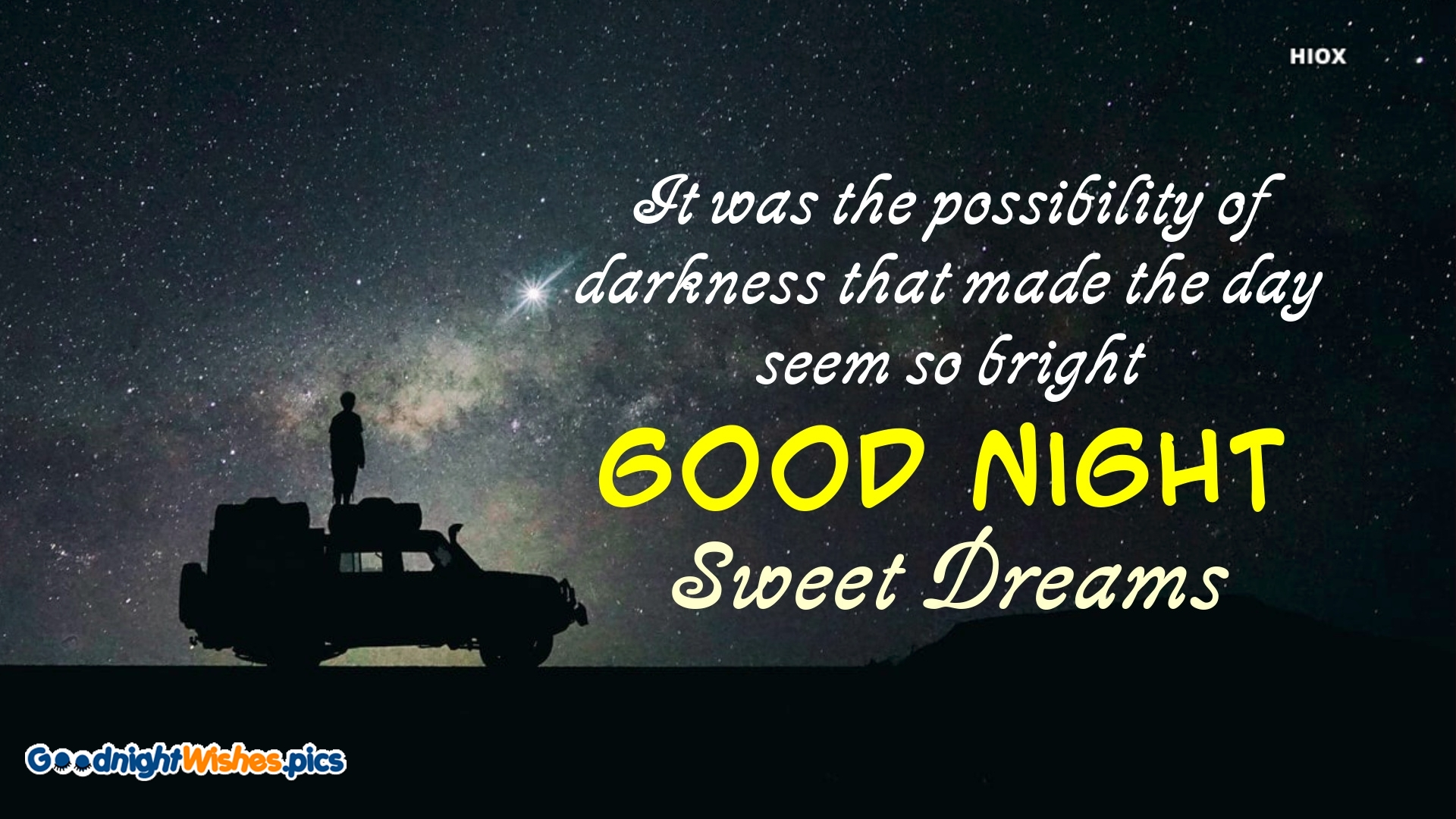 Good Night Motivational Quote Image