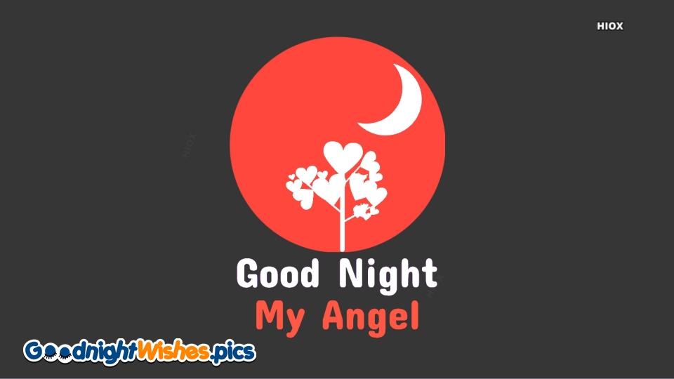 Good Night My Angel Card For Whatsapp