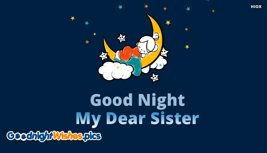 Good Night Wishes Pictures For Little Sister