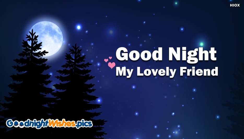 Good Night My Lovely Friend Image