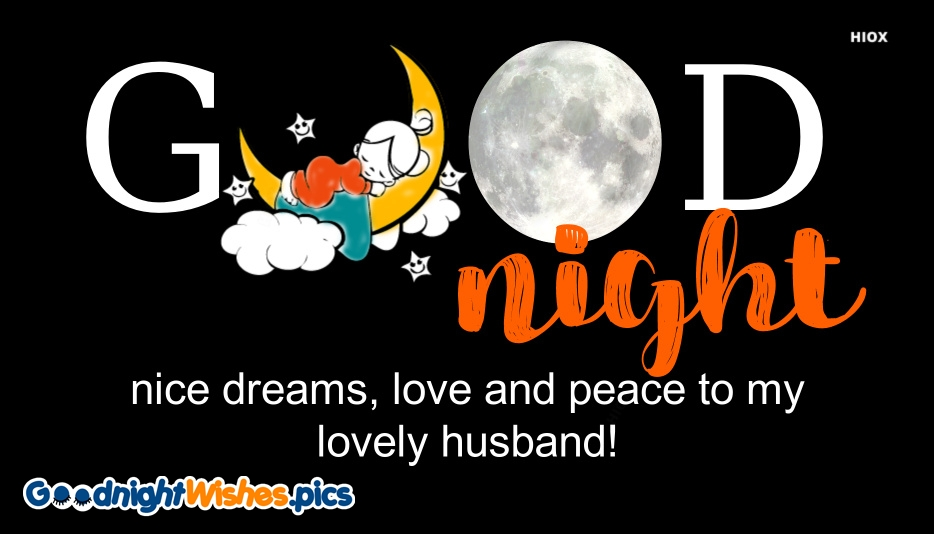 Good Night My Lovely Husband Message