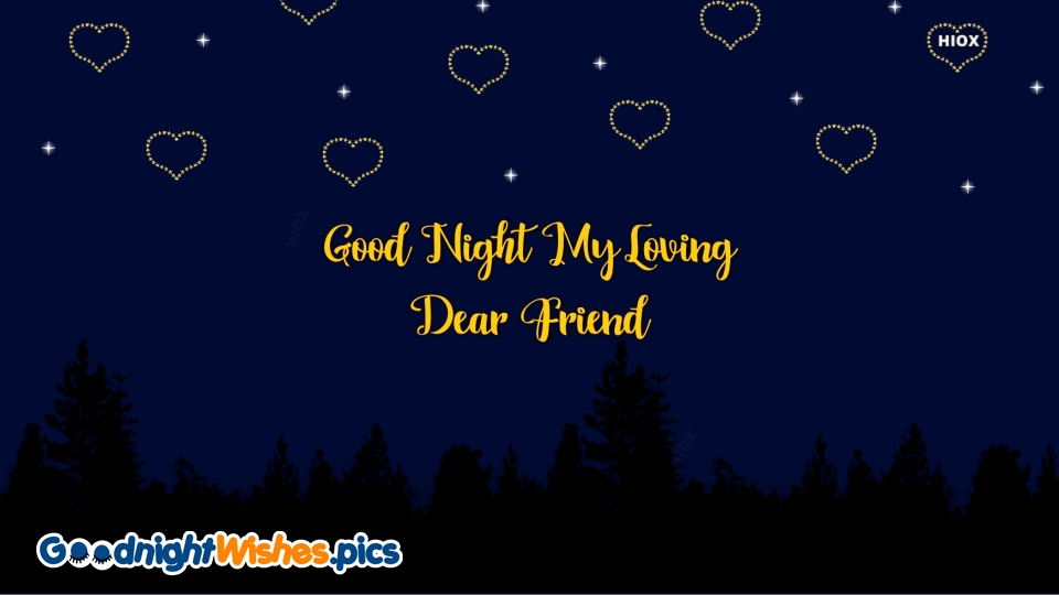 Good Night Wishes for Love Heart