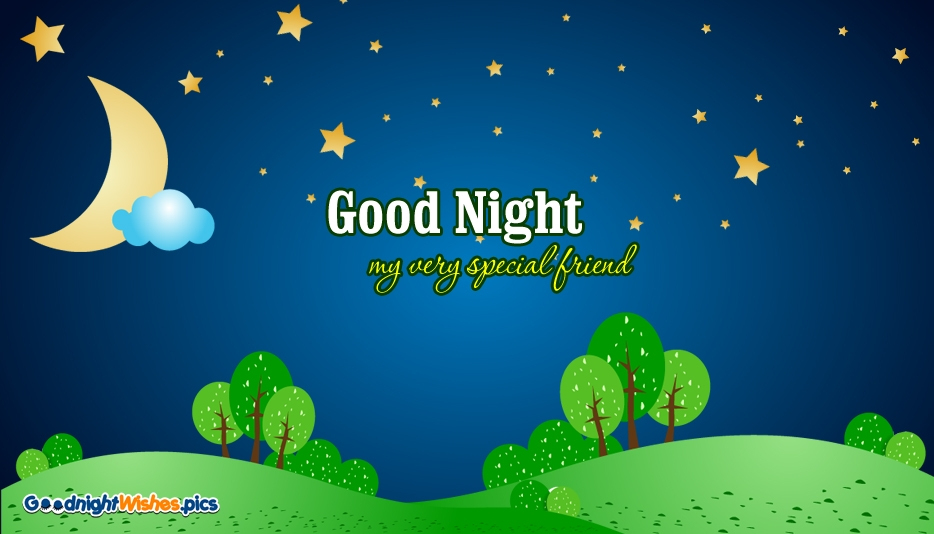 Good Night Wishes for Special Friend