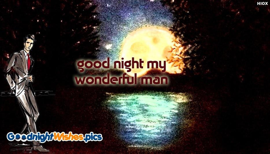 Good Night My Wonderful Man