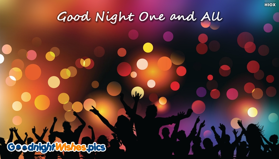 Good Night Wishes for Party