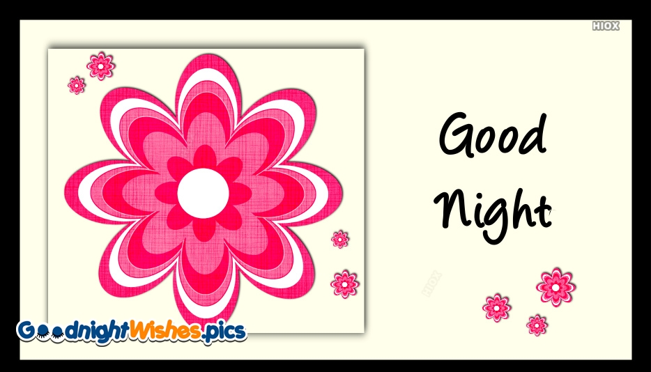 Good Night Pink Flower Images