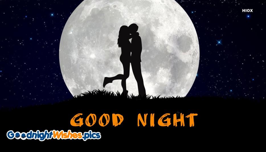 Good Night Romantic Kiss Pic