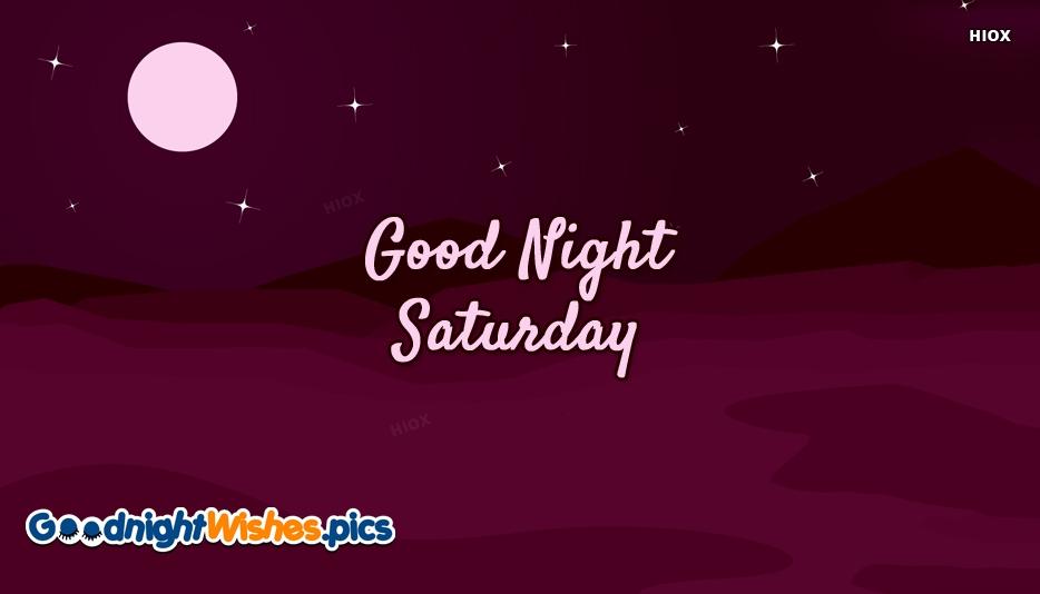 Good Night Weekend Images