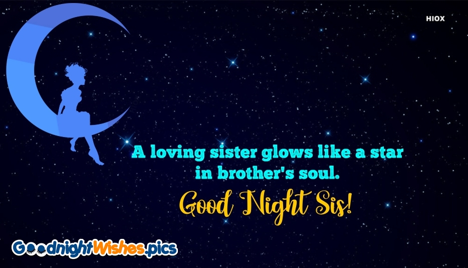 Good Night Sis Wishes Message
