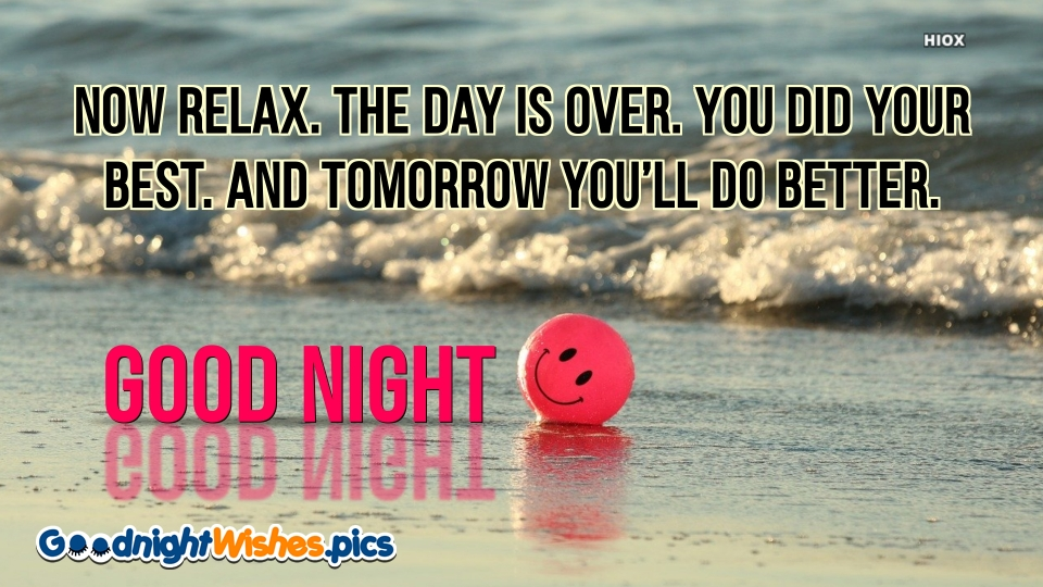 Good Night Wishes for Relax