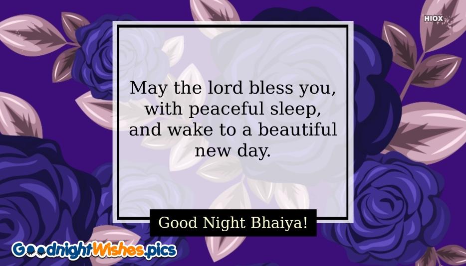 Good Night Sms For Bhaiya