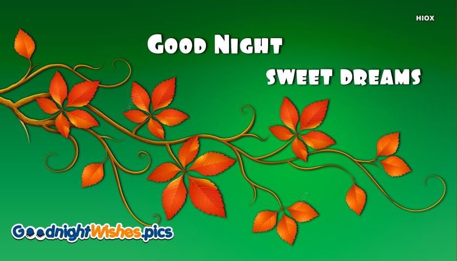 Good Night Sweet Dreams Green