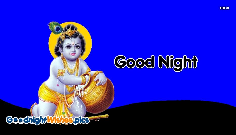 Good Night Sweet Dreams Krishna