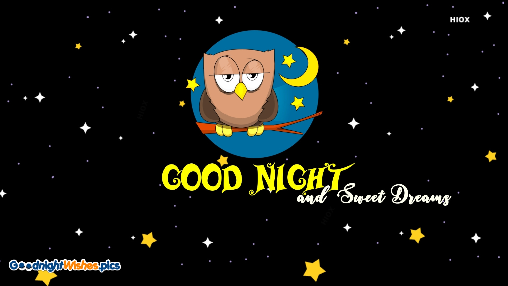 Good Night Sweet Dreams Wishes with Owl