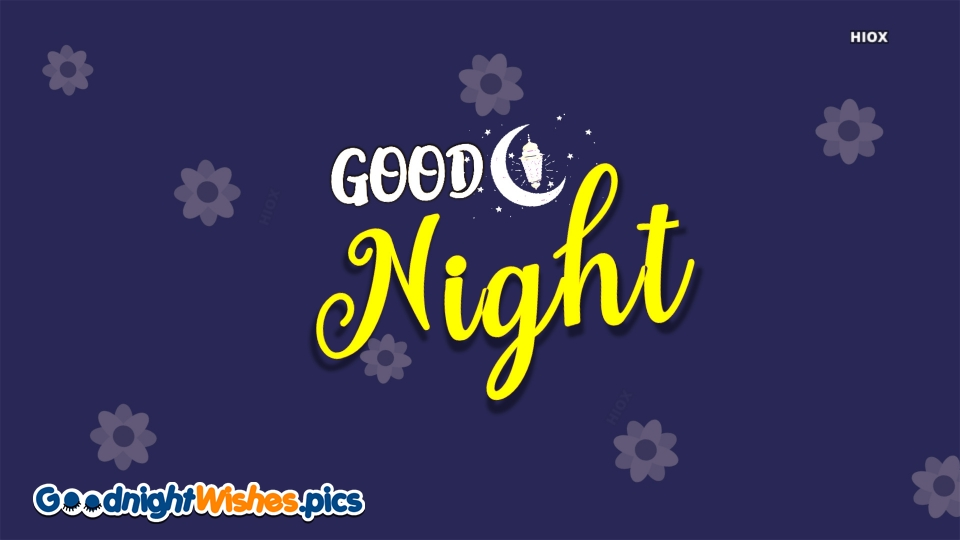 Good Night Text Image With Moon