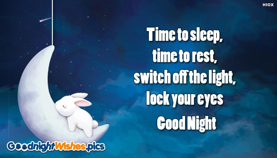 Good Night Time To Sleep Image