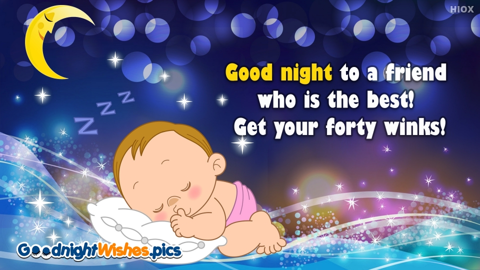 Good Night Wishes for Best Friend