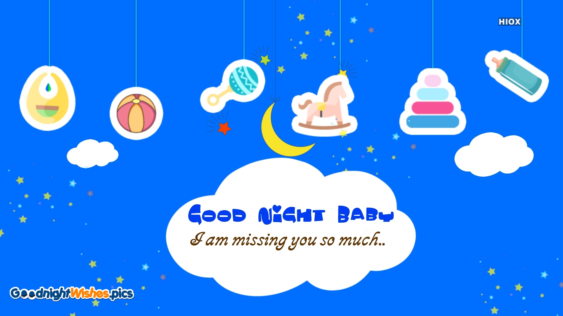 Good Night Baby with Miss You Message