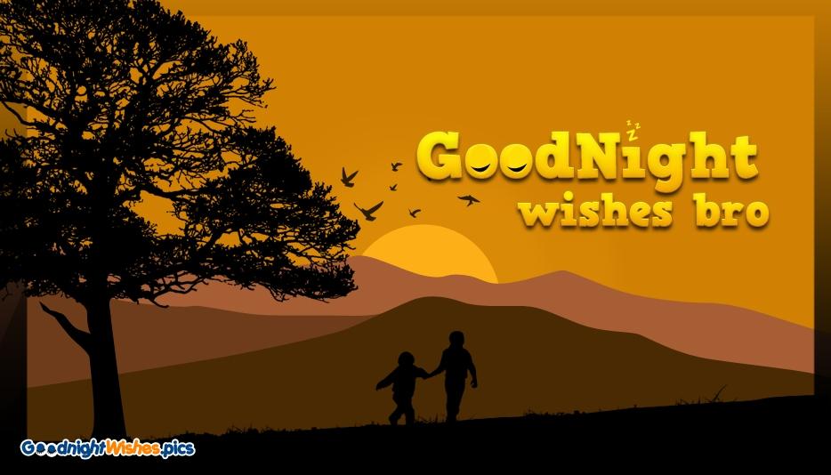 Good Night Wishes Bro @ GoodNightWishes.Pics