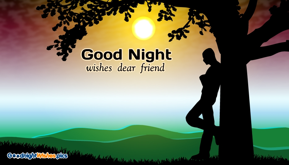 Good Night Wishes Dear Friend