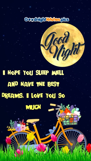 Good Night Wishes with I Love You Quote