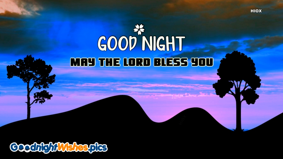 Good Night Wishes with God Bless You