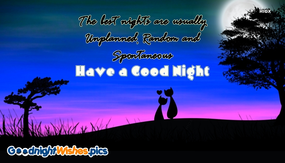 Good Night Wishes Quote