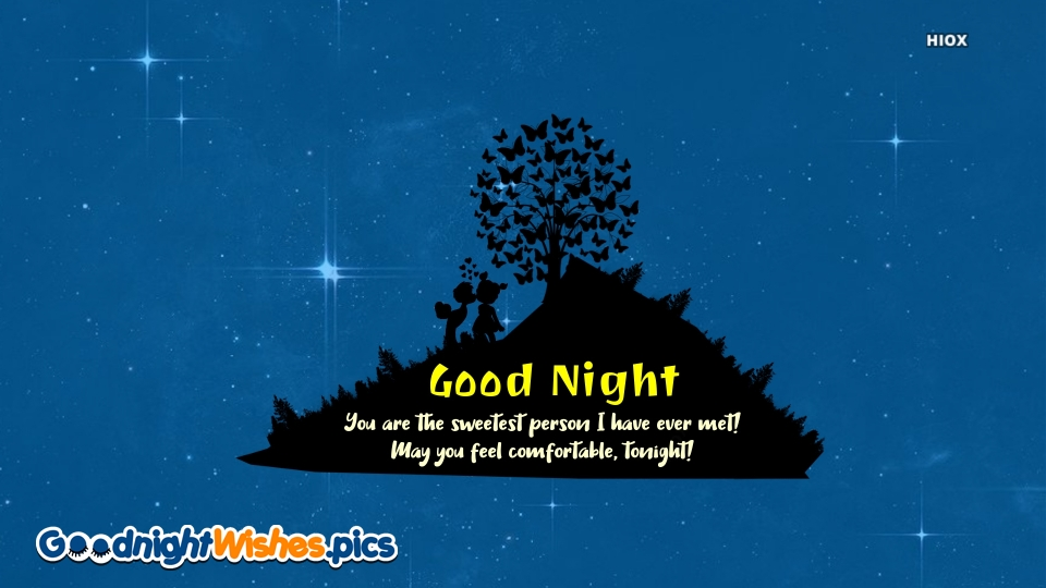 Good Night Wishes for Sweet Person