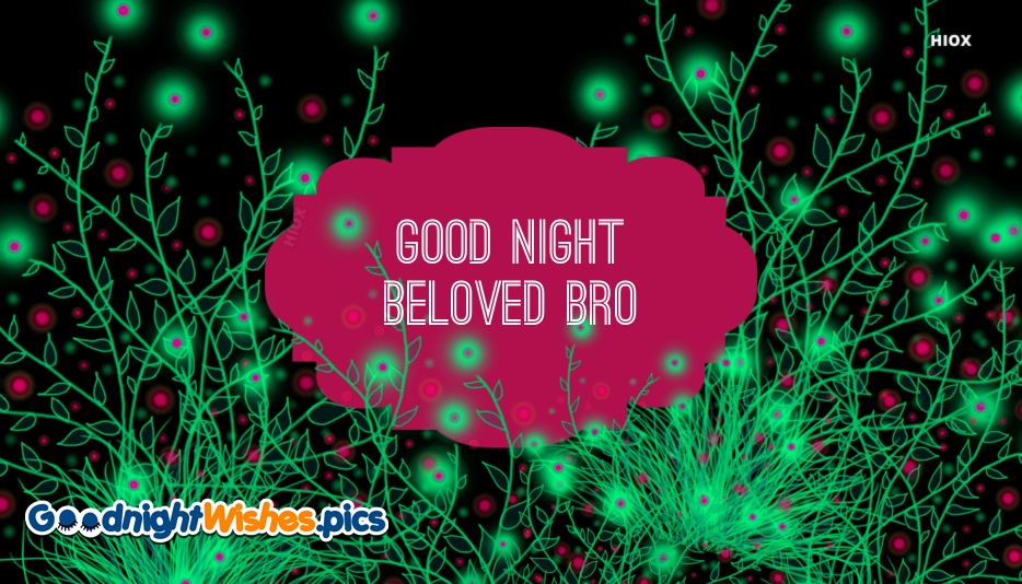 Good Night Wishes To Brother