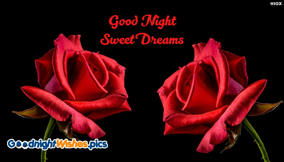Good Night With Beautiful Roses - Good Night Sweet Dreams Images