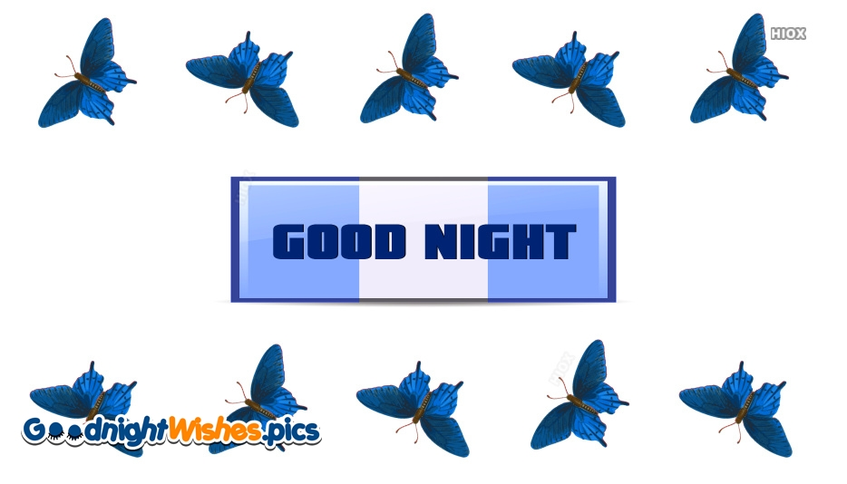 Good Night With Butterfly Images