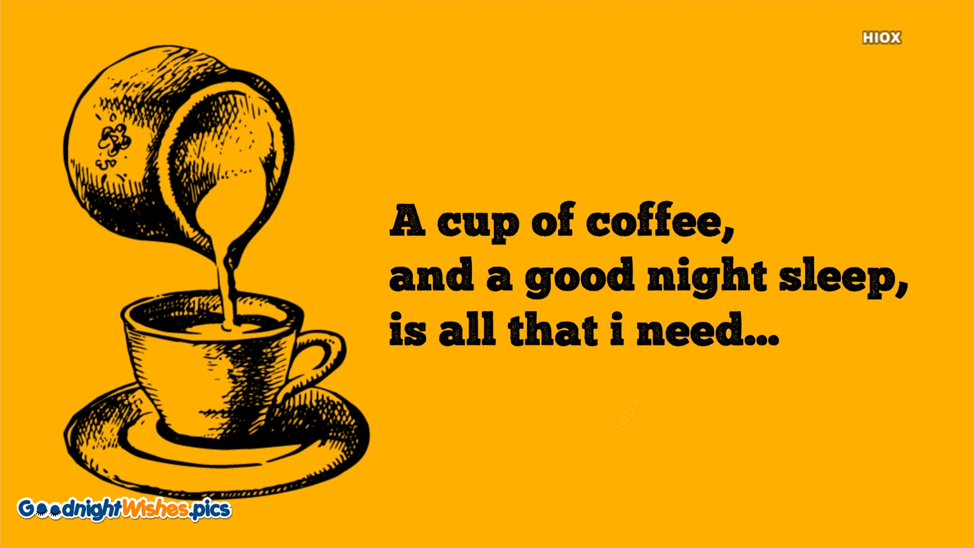 Good Night Wishes With Coffee