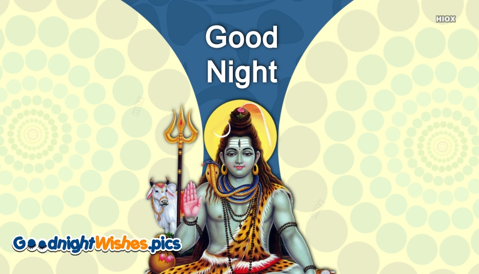 Good Night Images with Lord Shiva