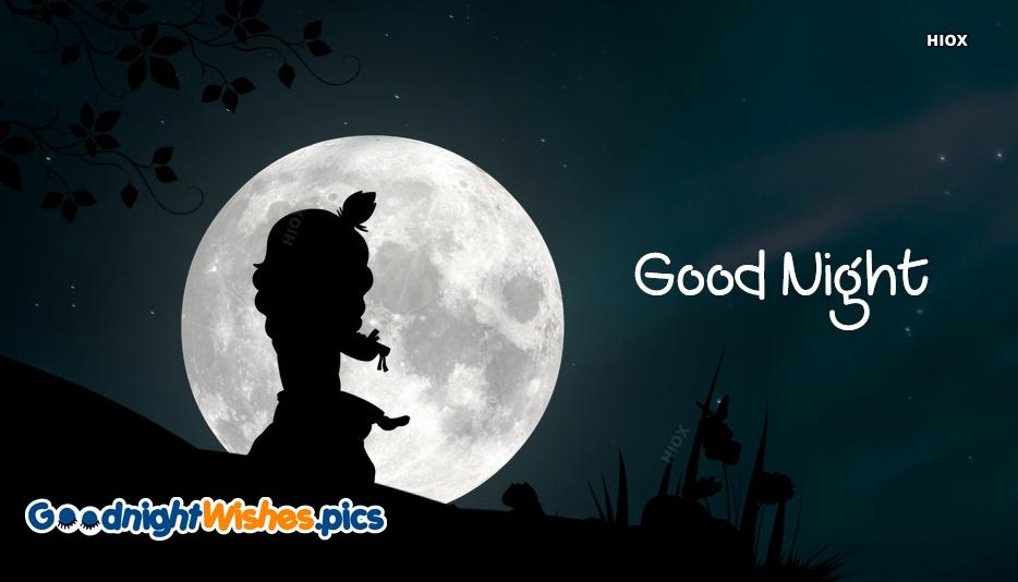 Good Night With Krishna Pic