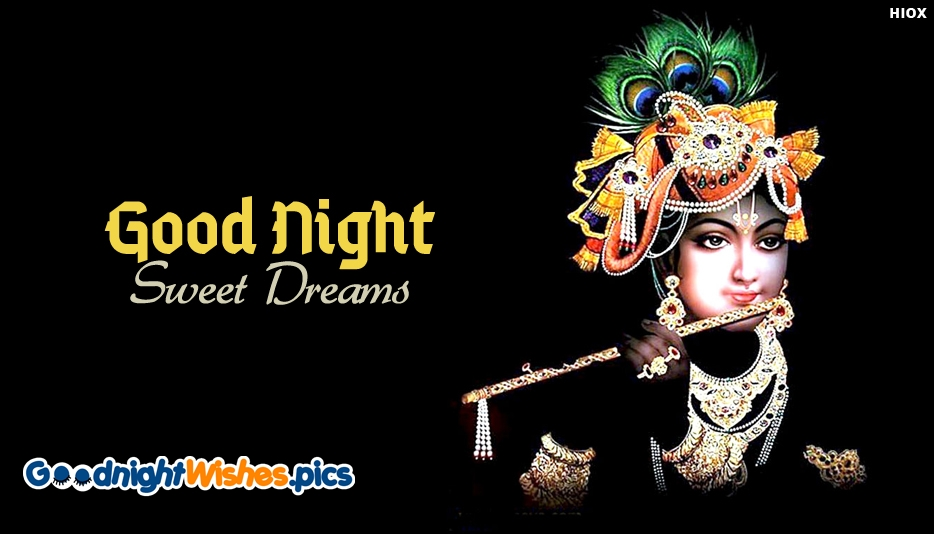 Good Night Images with Lord Krishna