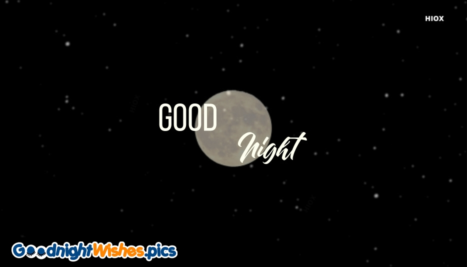 Good Night With Moon Wishes