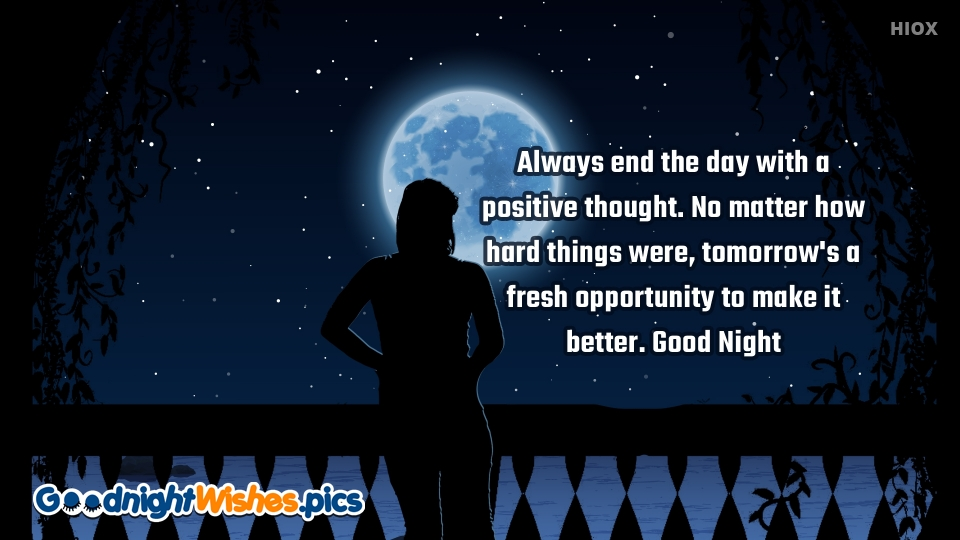 Good Night With Positive Thoughts